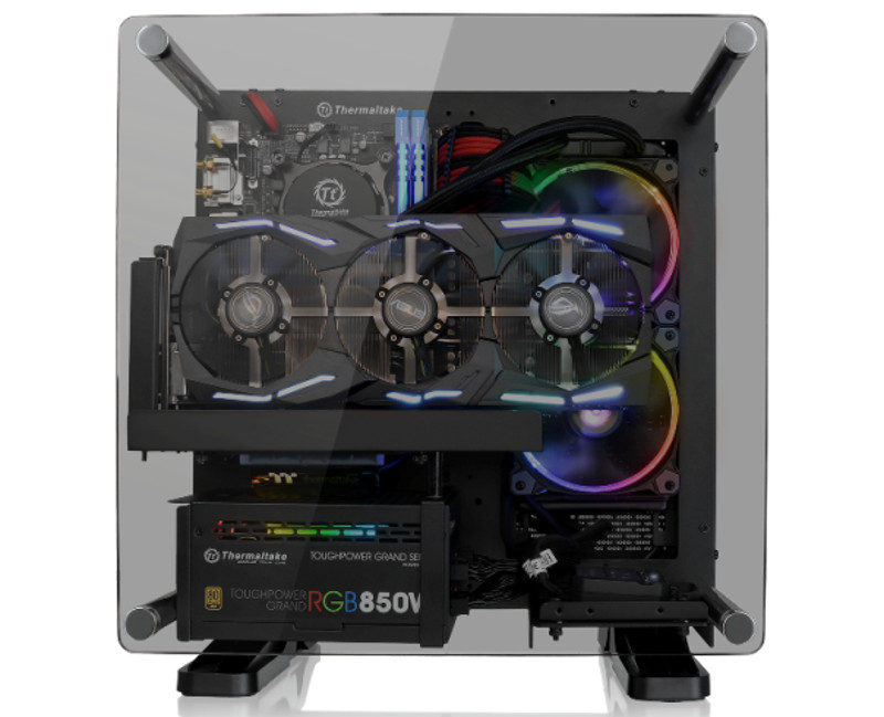 Thermaltake Releases Core P1 Tempered Glass Mitx Wall