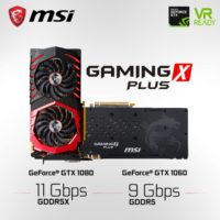 MSI Readies Faster Memory GTX 1080 11Gbps and GTX 1060 9Gbps Gaming X Plus Cards