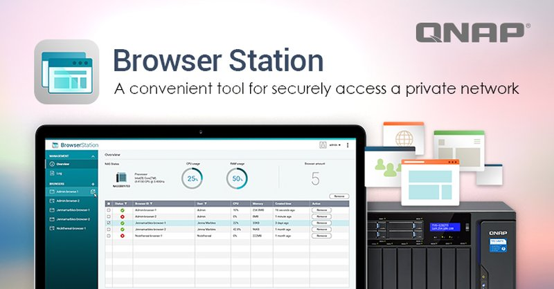 QNAP Introduces Browser Station for Virtual Browsers on Your