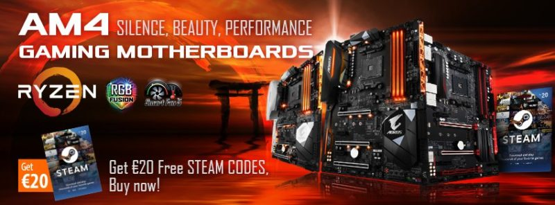 GIGABYTE Offers Steam Vouchers with AORUS Gaming