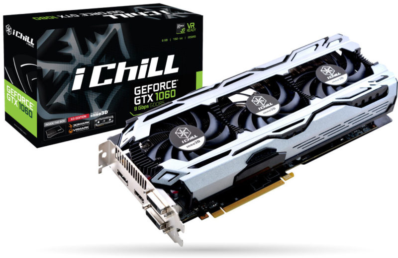 Inno3D GeForce GTX 1080 11Gbps and GTX 1060 9Gbps Cards Unveiled
