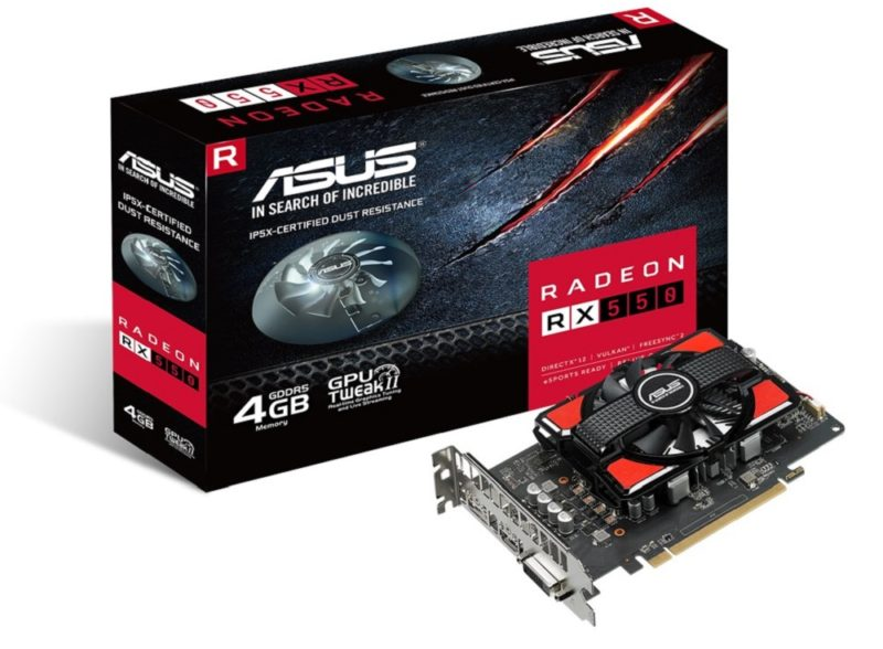 ASUS Introduces Radeon RX 550 4GB and 2GB Compact Graphics Cards