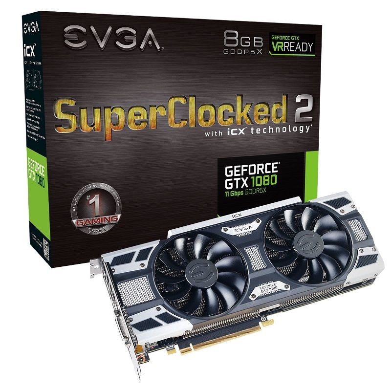 EVGA Upgrades GeForce GTX 1080 FTW2 and SC2 with 11 Gbps Memory
