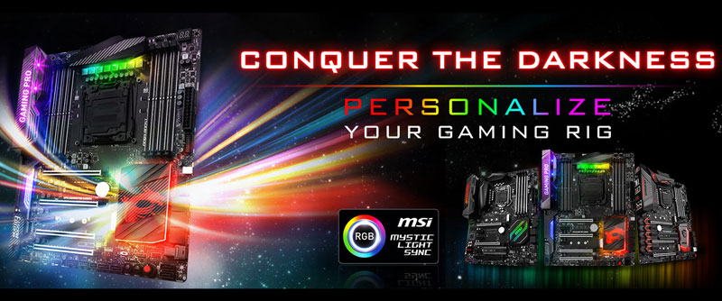 MSI Launches Mystic Light Sync RGB LED Resource Website