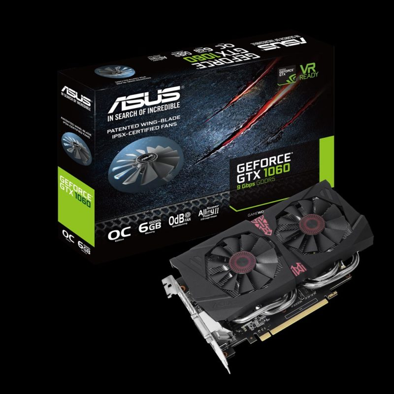 Faster Memory ASUS GTX 1080 11Gbps and GTX 1060 9Gbps Video Cards Now Available