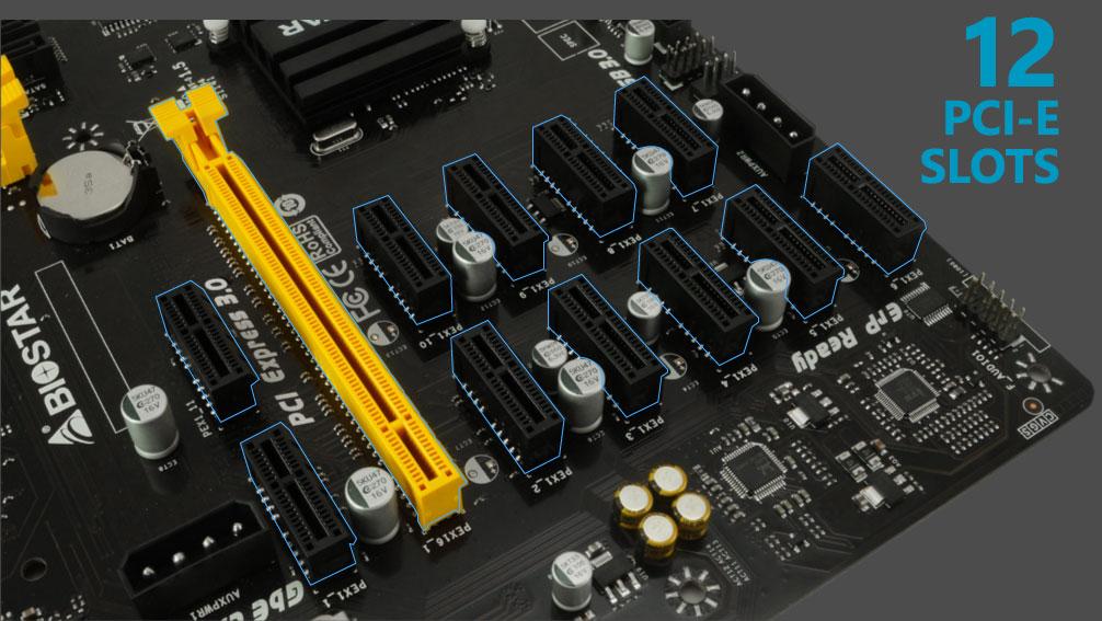 12 GPU rig power consumption (Biostar TB250-BTC PRO