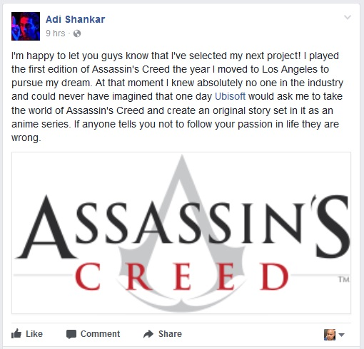 Assassin's Creed anime announced by Netflix Castlevania creator