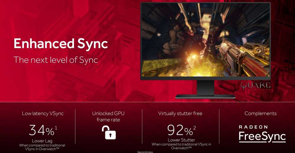 AMD Introduces Enhanced Sync on Crimson ReLive 17 7 2