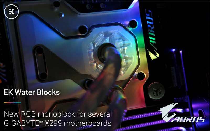 EKWB Releases RGB LED Monoblock for Gigabyte X299   eTeknix