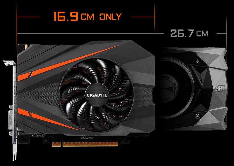 Gigabyte made the tiniest GeForce GTX 1080 card yet
