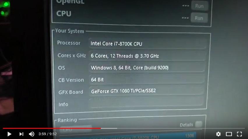 Intel i7-8700K Worse Than Ryzen R5 1600X in Cinebench | eTeknix