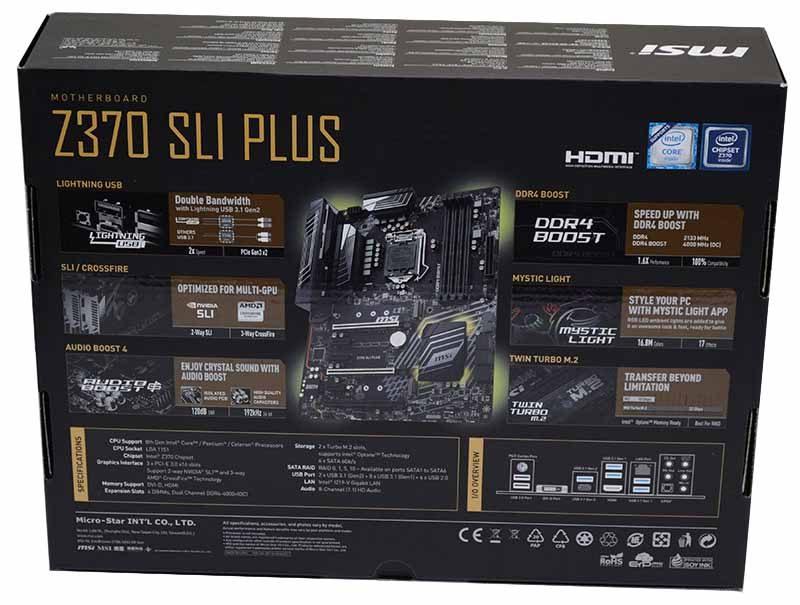 MSI Z370 SLI Plus Motherboard Review | eTeknix