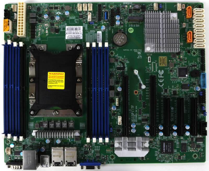 Supermicro X11SPi-TF Photo view top