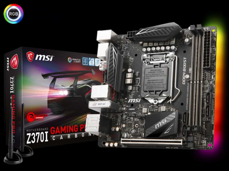 MSI Z370I Gaming Pro Carbon Mini-ITX Motherboard Review | eTeknix