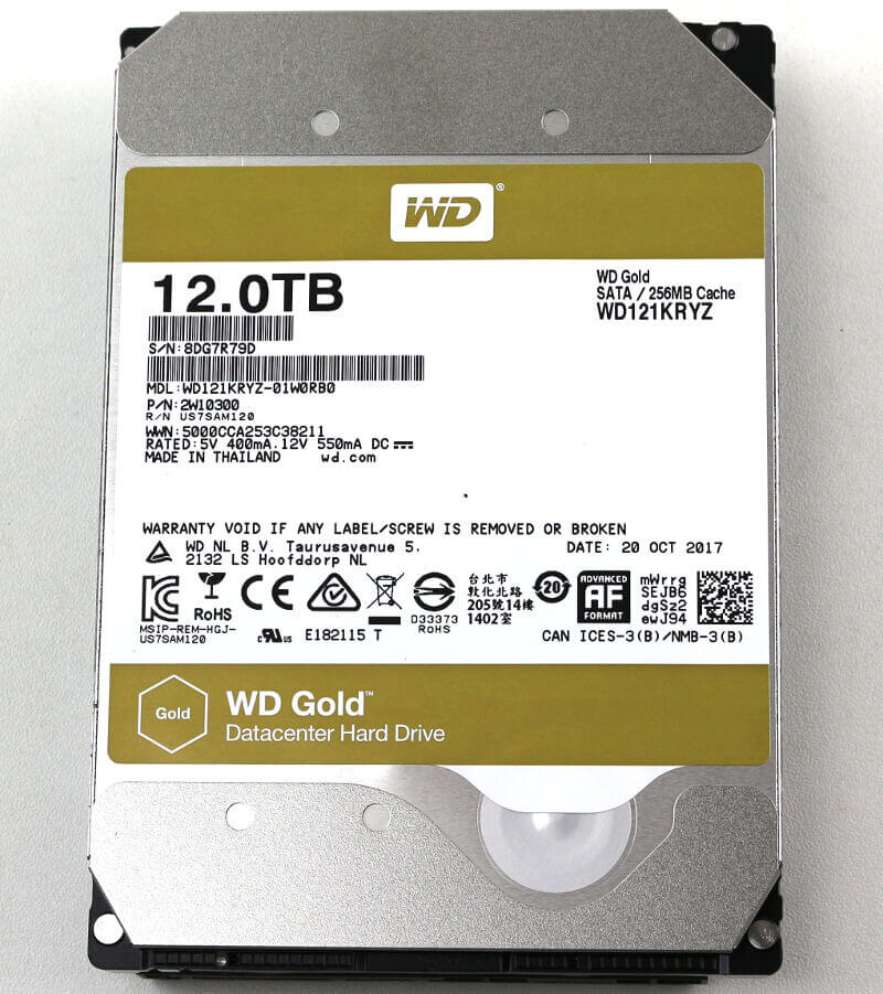 WD Gold 12TB Photo view top