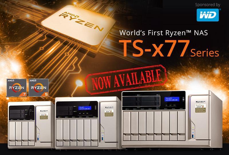 QNAP TS-x77 Ryzen NAS