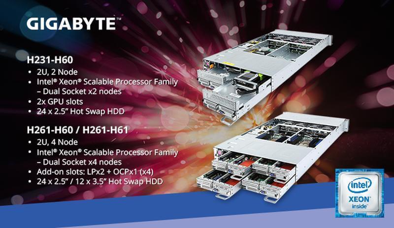 Gigabyte Scalable Xeon Server Range H60 News Banner