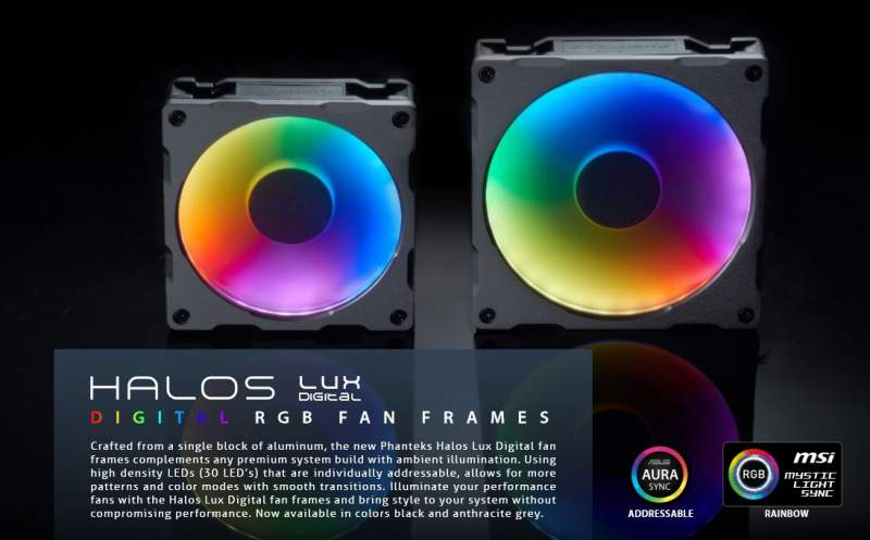 Phanteks Introduces Digital RGB Product Range | eTeknix