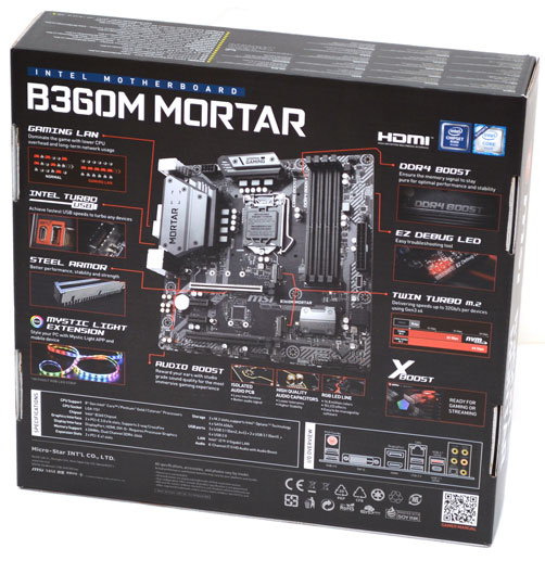 MSI B360M Mortar Micro-ATX Motherboard Review | eTeknix