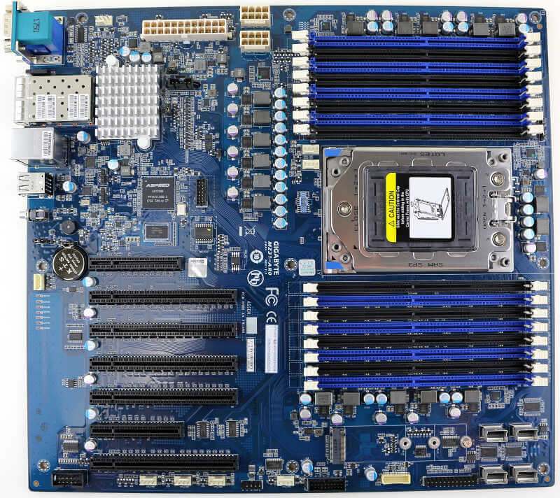 GIGABYTE MZ31-AR0 (SP3 EPYC) Server Motherboard Review | eTeknix