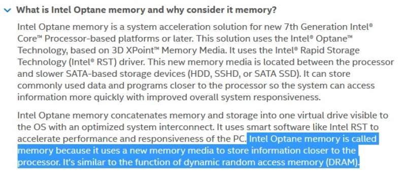 Intel and PC OEMs Misleading RAM Capacity Claim via Optane   eTeknix