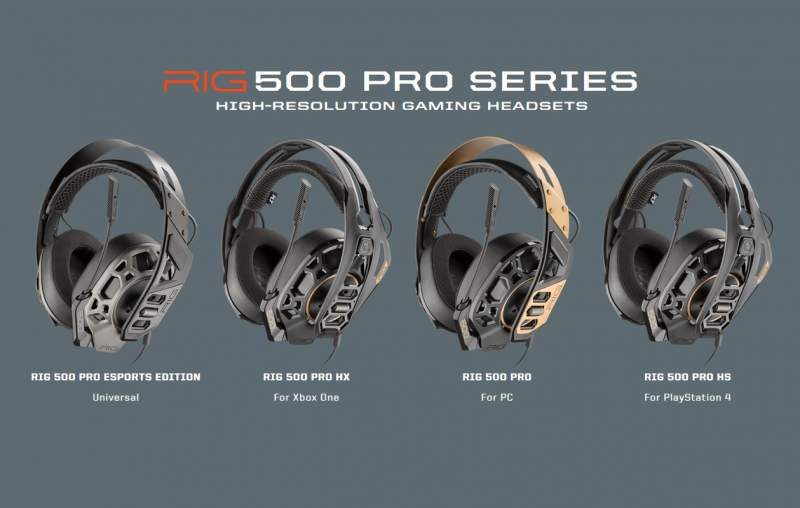 Plantronics RIG 500 PRO Series Gaming Headset Now Available