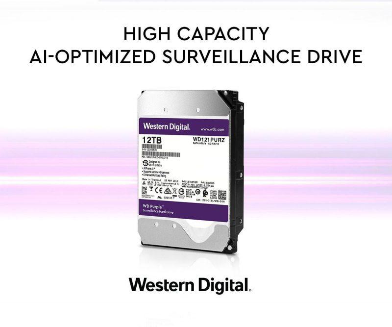 Western Digital Now Has 12TB Purple Surveillance HDDs