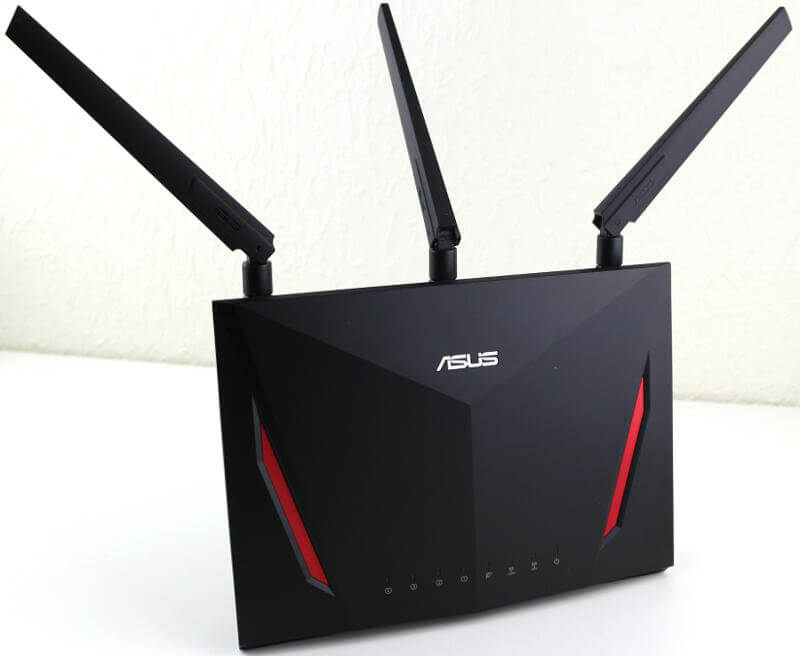 ASUS RT-AC86U AC2900 Photo view front angle
