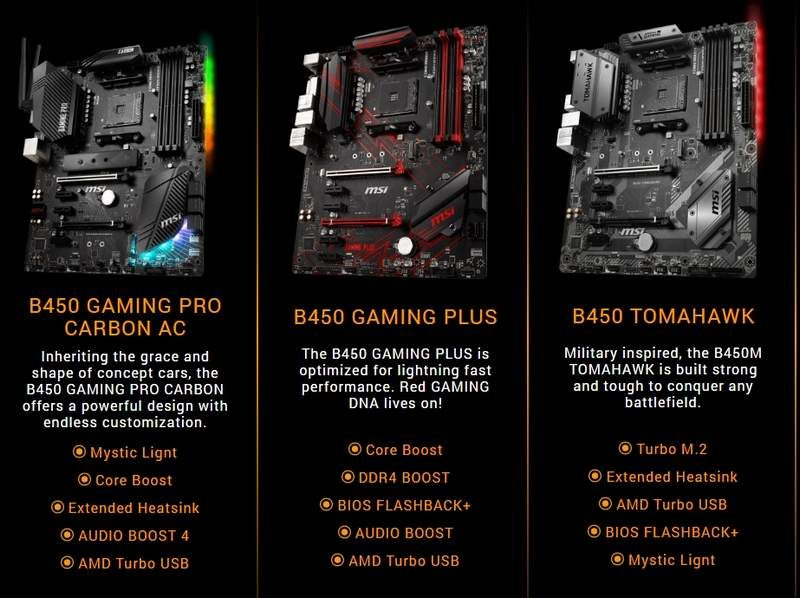 MSI Introduces New Line of B450 Chipset Motherboards | eTeknix