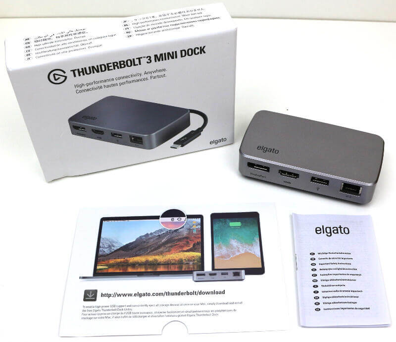 Elgato Thunderbolt 3 Mini Dock Photo box content