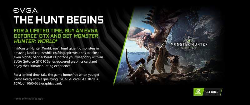 EVGA Offers Monster Hunter: World Free With GTX 10-Series