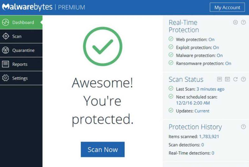 Malwarebytes Premium Ranked Worst Malware Protector   eTeknix