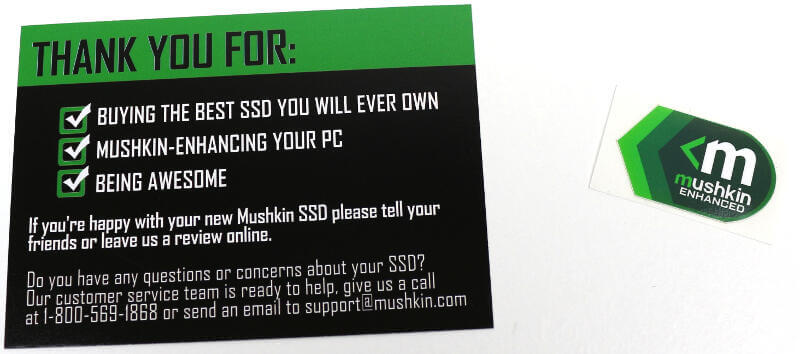 Mushkin Source 500GB Photo box accessories