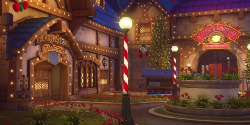 Overwatch Christmas.Overwatch Removes Blizzard World Christmas Map Eteknix
