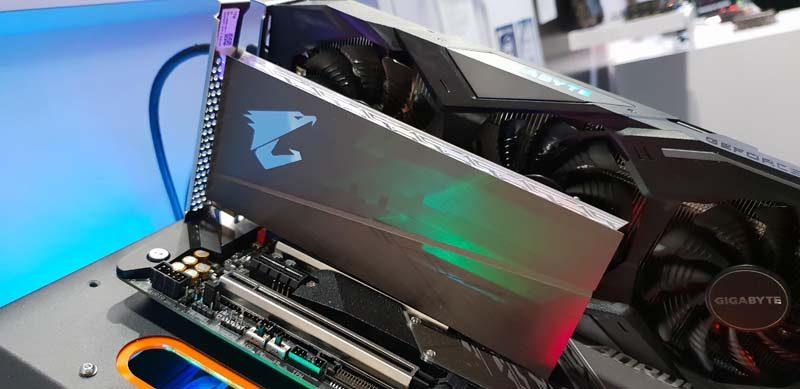 AORUS RGB AIC NVMe SSD Showcased at CES 2019   eTeknix