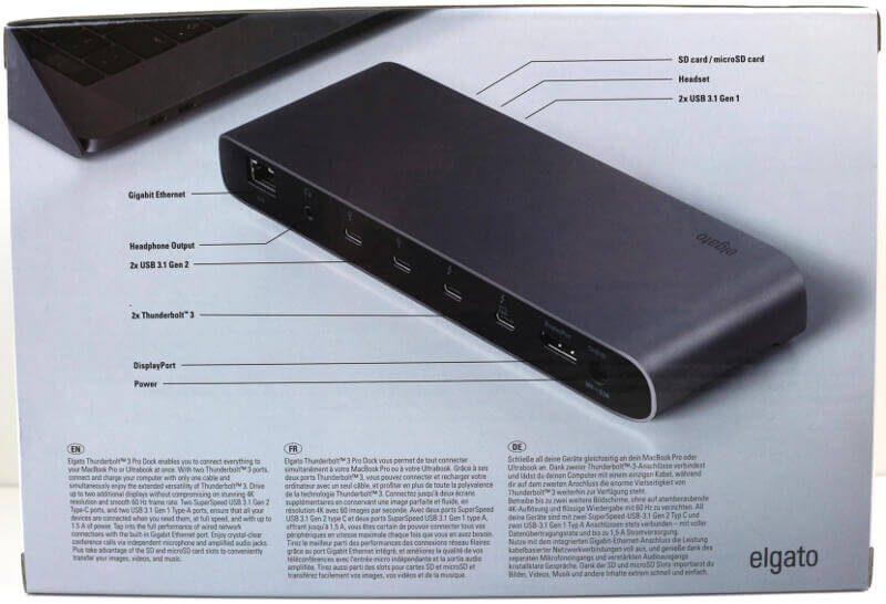 Elgato Thunderbolt 3 Pro Dock Photo box rear