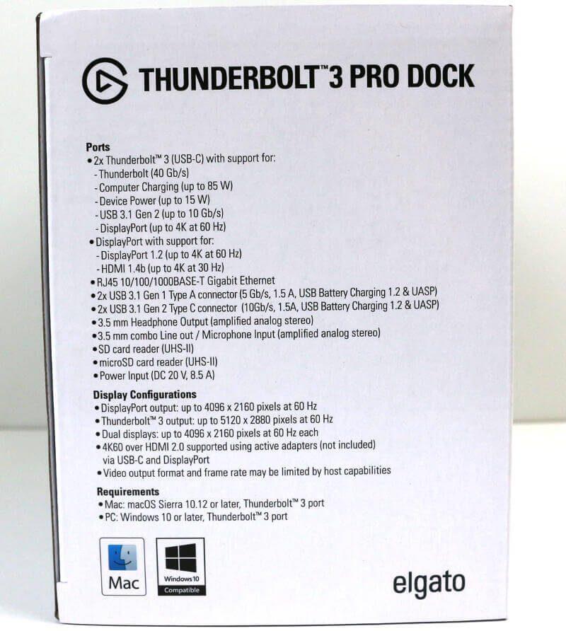 Elgato Thunderbolt 3 Pro Dock Photo box side