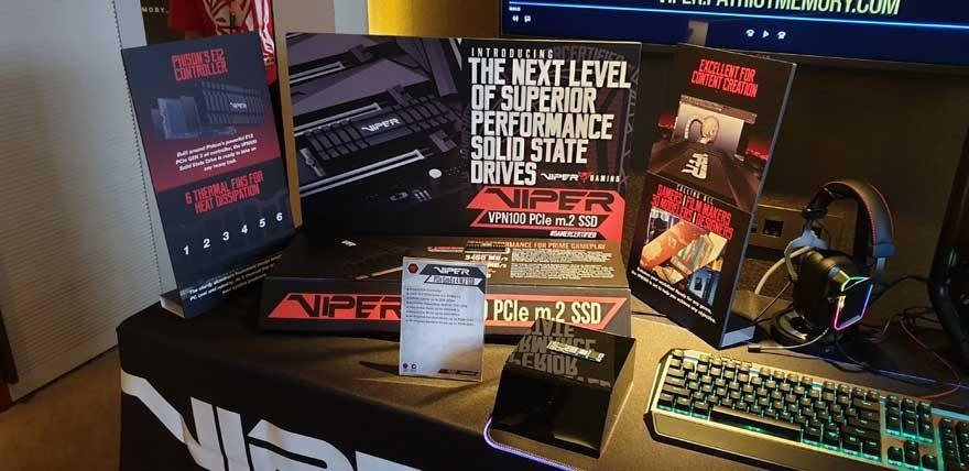 Patriot Viper Reveal Storage, Peripherals and More at Computex 2019