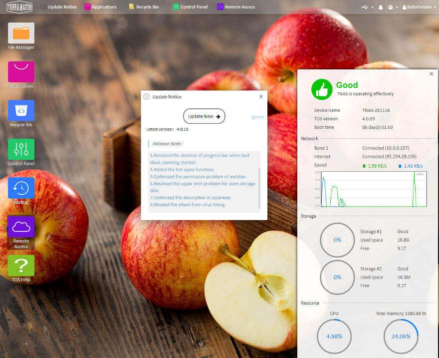 TerraMaster OS 4x SS desktop