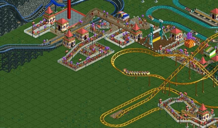 Rollercoaster Tycoon 2 Fan Creates A Ride that takes 45