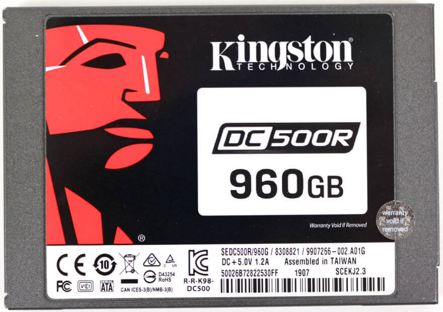 Kingston DC500 DC500R 960GB Photo view top