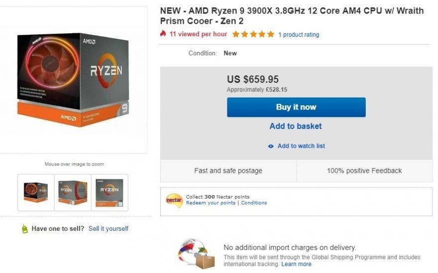 AMD Ryzen 9 3900X Shortages Lead to eBay Scalpers | eTeknix