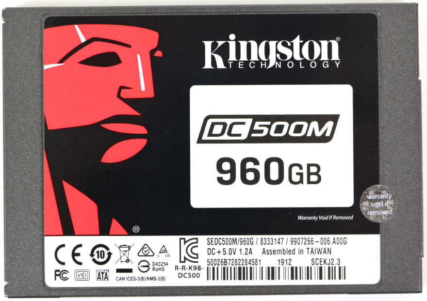 Kinston DC500M 960GB Photo top