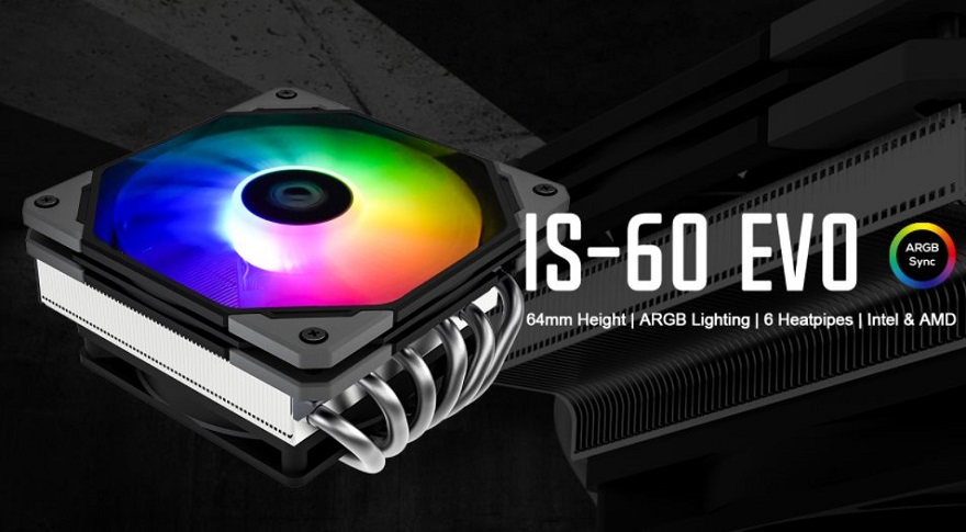 ID-Cooling IS-60 EVO ARGB Low-Profile CPU Cooler Review 22