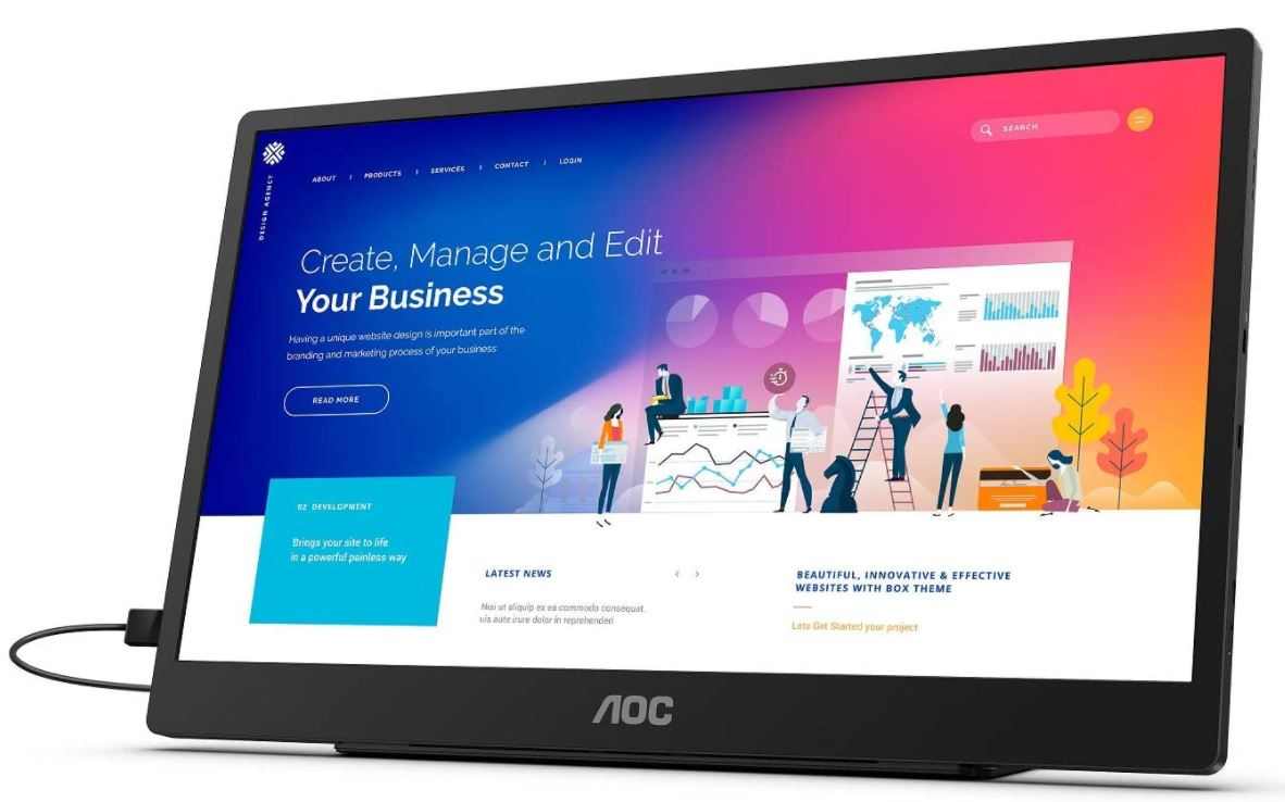 "AOC 16T2 15.6"" Portable Touch Screen Monitor Review 2"