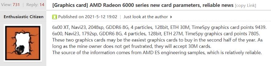 AMD Radeon RX 6600 and XT Specs Leak!